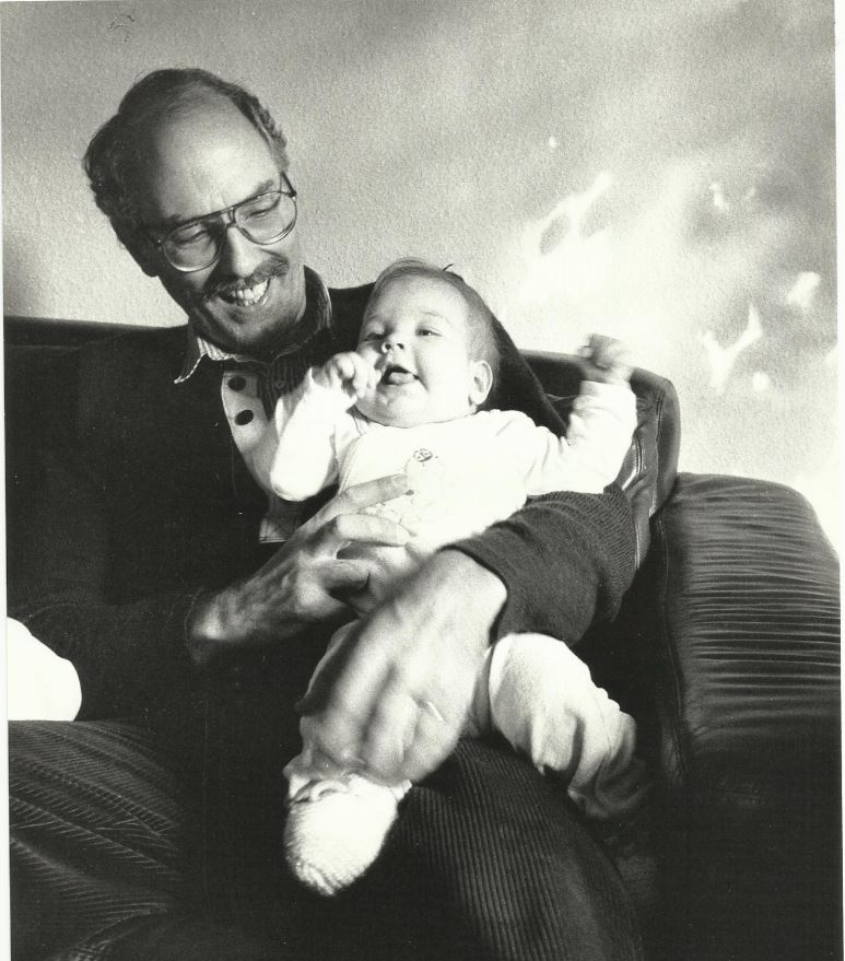 father with baby on the lap
