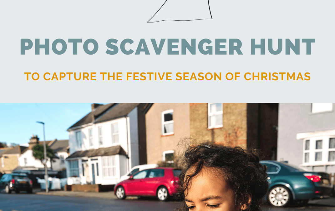 Christmas photography scavenger hunt for kids and their grown-ups