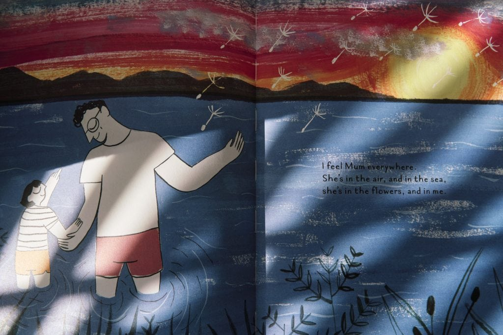 Page from Mum's Jumber by Jayde Perkin a children's book on bereavement, death and grief.
