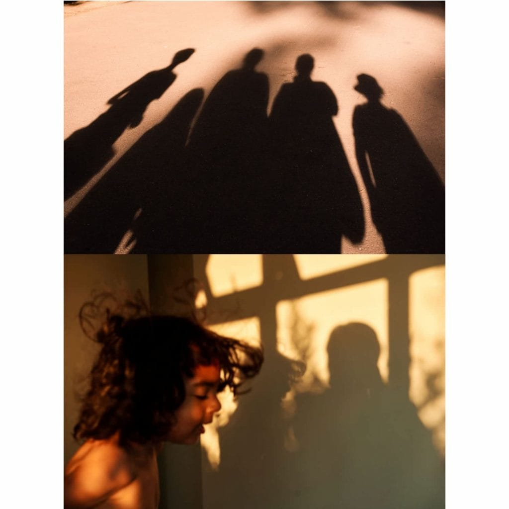 Collaborative art by creating a photography diptych using light and shadow as our monthly theme.